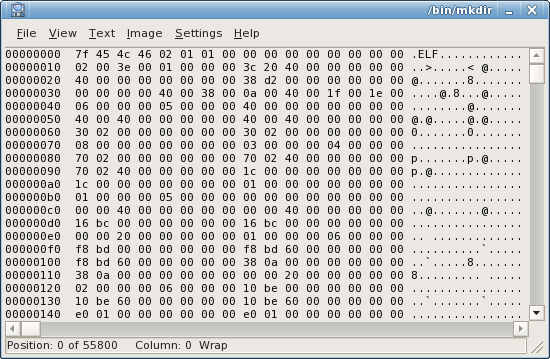 Hex mode with ASCII encoding